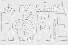 Embroidery Patterns Zulu and Co Home sweet home Embroidery Patches, Wool Applique, Applique Quilts, Embroidery Applique, Cross Stitch Embroidery, Applique Templates, Applique Patterns, Applique Designs, Quilt Patterns