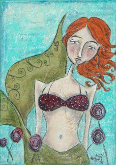 Penelope by Allison Weeks Thomas  www.allisonweeksthomas.com  #art #mermaid #whimsical