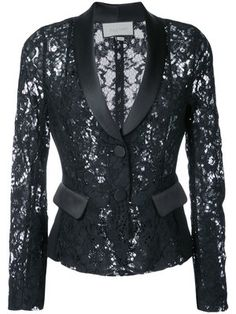 Alexis Luella Lace Tuxedo Blazer In Blue Blazer Fashion, All Fashion, Fashion Dresses, Fashion Looks, Womens Fashion, Lace Blazer, Lace Jacket, Chanel Style Jacket, Gala Dresses