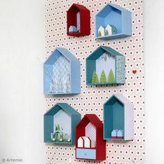 Décoration murale : Maisons en bois personnalisées