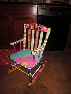 Custom Handpainted rocking chair