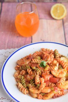 pasta salad,tricolor pasta.