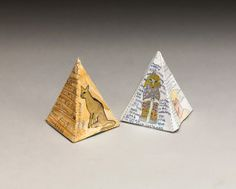 Egyptian Fact Pyramids lesson plan ~~ Explore the wonders of ancient Egypt then construct a pyramid on which to display your findings. Ancient Egypt Display, Ancient Egypt Pyramids, Egyptian Crafts, Egyptian Art, Egyptian Pyramid, Ancient Art, Ancient History, Visual Art Lessons, Montessori Art