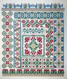 My Secret Garden Counted Cross Stitch Pattern, by AuryTM, WI by GriffithGardens on Etsy