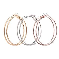 """Hoop Earrings, Hmlai 3 Pair Fashion Thin Round Big Large Dangle Hoop Loop Earrings for Women Girls ◆◆◆Hi, Welcome to Hmlai Store.(∩ω∩)◆◆◆ ☞""""Hmlai"""" is offering full line of all kinds products, beauty, Outdoor Girls Earrings, Round Earrings, Gold Hoop Earrings, Statement Earrings, Women's Earrings, Cheap Earrings, Diamond Earrings, Fashion Earrings, Fashion Jewelry"""