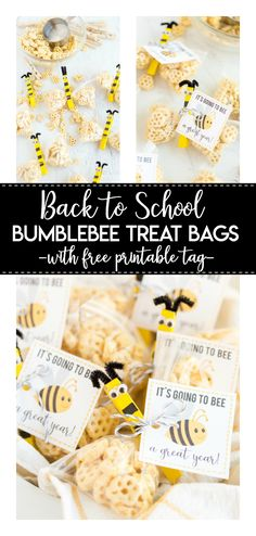 Back to School Bee Treat- a simple and yummy craft idea for kids to share with their friends! The printable gift tag is perfect for welcoming a new school year. Back To School Gifts For Kids, School Fun, Diy For Kids, Crafts For Kids, Easy Crafts, Kindergarten Gifts, Bible School Crafts, Welcome Back To School, Bee Gifts