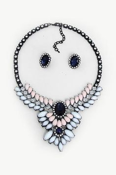 Aspen Statement Necklace in Sapphire on Emma Stine Limited