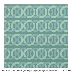CHIC CUSTOM FABRIC_MINT/BLUE/AQUA GEOMETRIC FABRIC