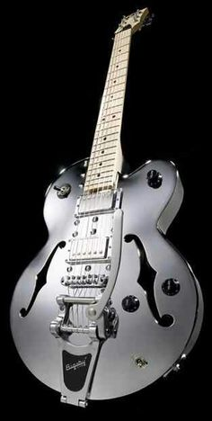 Normandy Chrome Archtop Guitar