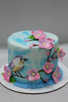 Flowers and Bird Cake! 🐦🌸
