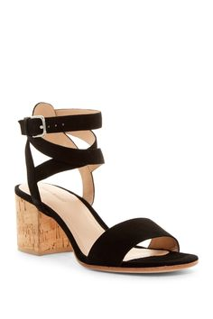 Obsessed with these Pour La Victoire Amana Ankle Cage Block Heel Sandals