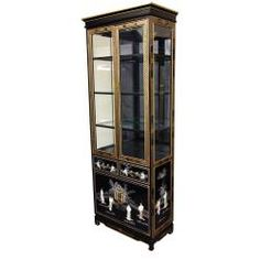 @Overstock - An exceptionally beautiful, hand crafted Asian design curio cabinet, with stunning, hand carved Mother of Pearl oriental ladies and hand painted detail. Heirloom quality craftsmanship. Cabinet finished in outstanding 12 coat high luster black lacquer.http://www.overstock.com/Worldstock-Fair-Trade/Tall-Black-Lacquer-Curio-Cabinet-Mother-of-Pearl-Ladies-China/6706456/product.html?CID=214117 $1,640.00