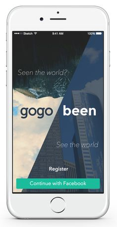 Gogobeen landing page #ui #ux #iphone6 #ios #app