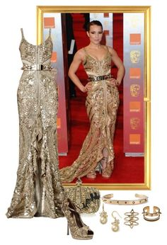 """Noomi Rapace – 2011 BAFTA Awards."" by foreverforbiddenromancefashion ❤ liked on Polyvore featuring Alexander McQueen, Givenchy, Carolee, Maria Francesca Pepe and Rebecca Taylor"