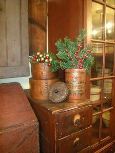 Winterberryfarm Primitives: Christmas Decorating AND Putting Your Garden To Bed!