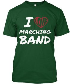 Discover I Love Marching Band T-Shirt from Band Mom Designs, a custom product made just for you by Teespring. With world-class production and customer support, your satisfaction is guaranteed. - I Love Marching Band Check out the. Color Guard Shirts, Band Mom Shirts, Marching Band Mom, High School Band, Middle School, Band Director, Drum Major, Band Memes, Boutique Design