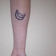 Banana tattoo on the forearm: You know how bananas after...