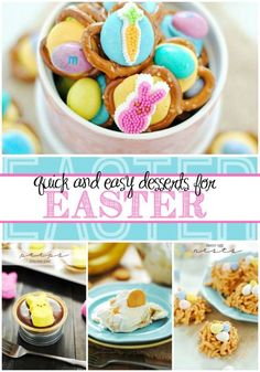 Quick and Easy Easter Dessert Recipes Easy Easter Desserts, Easter Treats, Easter Recipes, Dessert Recipes, Easter Food, Easter Deserts, Easter Stuff, Easter Dinner, Easter Party