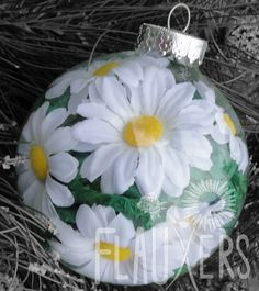 Daisy Ornament- ways and means maybe?
