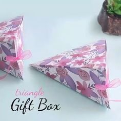Cool Paper Crafts, Paper Crafts Origami, Diy Paper, Diy Crafts Hacks, Diy Crafts For Gifts, Instruções Origami, Origami Gift Box, Diy Gift Box, Paper Gift Box