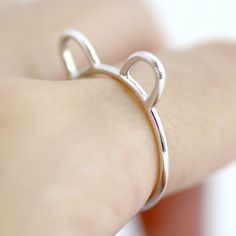 MADE TO ORDER 925 Sterling Silver Cat Ears Ring by SilverStella