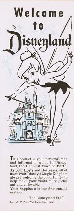 1957 Welcome To Disneyland California Rare Brochure Disney Disneyana