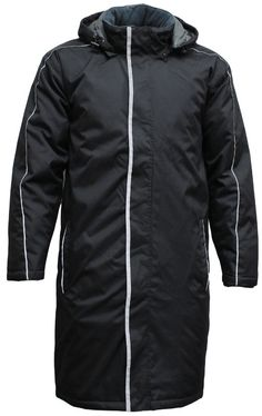 STJ Sideline Jacket Knee-length Heavyweight nylon outer Showerproof - rating Full insulated lining Zip and dome front Zip-off hood (lined) Front hand-warmer pockets Draft-stopping sleeve cuffs Inside chest pocket Embroidery access Coaches, Hand Warmers, Sd, Cuffs, Pockets, Embroidery, Sleeves, Fashion, Moda