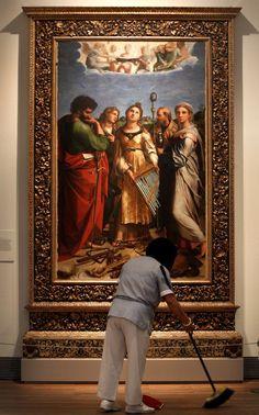 """Santa Cecilia"" obra de Rafael 1515-16."