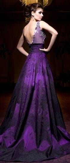 Royal Purple Dress For Wedding With