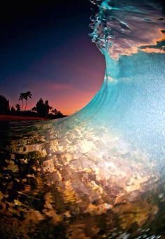 A shot taken at dusk with a flash on the North Shore of Oahu - Clark Little Photography