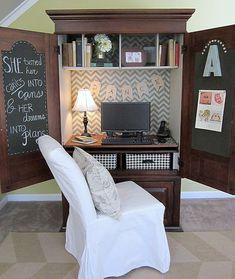 Repurpose Tv Armoire Into Desk