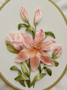 Wonderful Ribbon Embroidery Flowers by Hand Ideas. Enchanting Ribbon Embroidery Flowers by Hand Ideas. Embroidery Designs, Ribbon Embroidery Tutorial, Silk Ribbon Embroidery, Embroidery Stitches, Embroidery Patterns, Hand Embroidery, Embroidery Supplies, Embroidery Techniques, Machine Embroidery