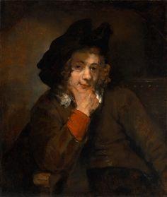 Рембрандт. Портрет молодого человека, подпирающего рукой подбородок (Титус). 1660. Балтимор (шт. Мэриленд). Художественный музей.