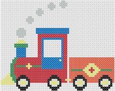 free cross stitch train patterns   Choo Choo Train ... by MelsDaisyPatch   Embroidery Pattern