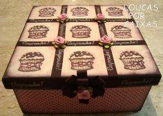 CAIXA COM CARIMBOS CUPCAKE - Loucas por caixas - Terra Fotolog