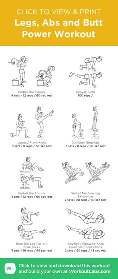 Abs and Butt Power Workout – illustrated exercise plan created at /Fit Power Workout, Leg And Ab Workout, Menopause, Ab Day, Stubborn Belly Fat, Workout For Beginners, At Home Workouts, Ab Workouts, Elliptical Workouts