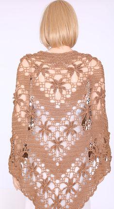 Shawl pattern for advanced level Crochet shawl wrap Wedding shawl Crochet pattern Shawl Wedding wraps Wrap Shawls Extra-large Shawl by on Etsy Crochet Shawls And Wraps, Knitted Shawls, Crochet Scarves, Crochet Clothes, Crochet Hats, Crocheted Scarf, Love Crochet, Beautiful Crochet, Wedding Wraps
