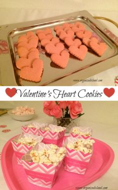 Recipe for Valentine's heart cookies. A perfect Valentine's treat for friends or family. Valentines Day Food, Valentine Treats, Valentine Heart, Breakfast Lunch Dinner, Dessert For Dinner, Tea Party Setting, Tea Sandwiches, Heart Cookies, Mini Foods