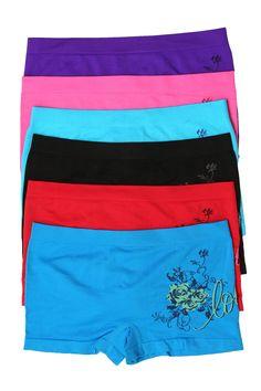 f00c072e7a18d Sakkas Women s Seamless Stretch Boy Short Panties (6 Pack)