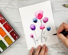 How to Paint Easy Watercolor Flowers Tutorial - Fox   Hazel for Dawn Nicole Designs 13