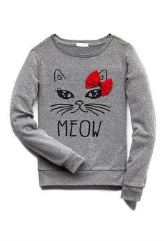 Sudadera Gato Meow (Niña) - sudaderas y punto - 2000071111 - Forever 21 EU