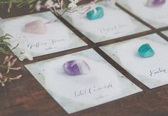 Hot Trend We're Loving? Rocks, Crystals and Geode Wedding Details | Photo by: Hazelwood Photo | TheKnot.com