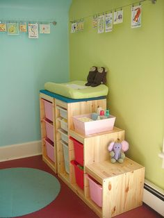 trofast system as a changing table | Flickr - Photo Sharing!
