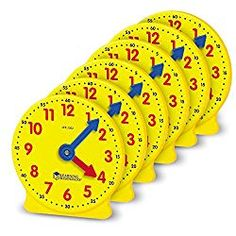Learning Resources Gear Clock, 4 Inch, Teacher Helper, Classroom Accessories, Set of Ages - The Wall Clock Learning Clock, Hands On Learning, Learning Time, Kids Learning, Rush Hour Game, Gear Clock, How To Teach Kids, Teacher Helper, Thing 1
