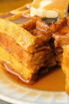 ... with Blondie on Pinterest | Banana waffles, Pumpkin waffles and Baking