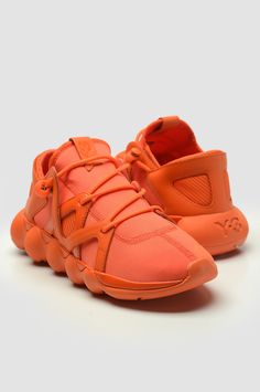 Impossible To Miss This adidas Kyujo Low Orange Sneakers, Shoes Sneakers, Orange Shoes, Running Silhouette, Orange Color, Adidas Originals, Kicks, Mens Fashion, Leather