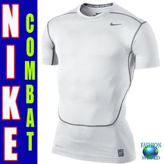 check out c3b6b 045bb Nike Mens Core 2.0 Compression Short Sleeve Shirt White Cool Grey Size 2xl  for sale online   eBay