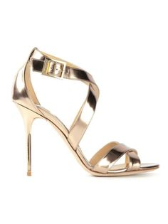 235842ebb0f2 Jimmy Choo bespoke  Lottie  bespoke gold leather sandals -  950. The have  the