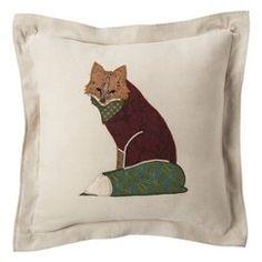 """Threshold™ Fox Toss Pillow - Sleek Gray (18x18"""")"""