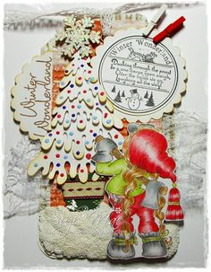 Sweet Magnolia Tilda in the forest Christmas tag image from http://www.magnoliastamps.us/  #cards #crafts more info at http://wwwsuzies.blogspot.co.uk